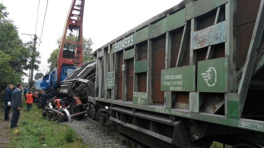 Поблизу Львова один із вагонів вантажного потяга зійшов з колії (ФОТО), фото-4