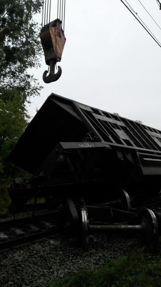Поблизу Львова один із вагонів вантажного потяга зійшов з колії (ФОТО), фото-3