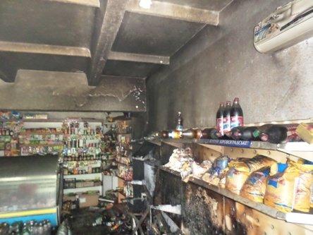 На Кировоградщине горел магазин, фото-1