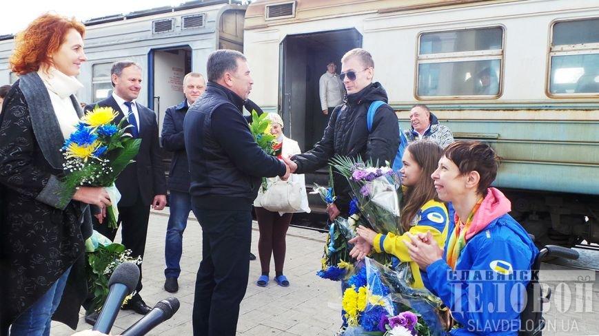 В Славянск вернулись призеры Паралимпийских игр (ФОТО), фото-6