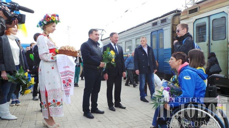 В Славянск вернулись призеры Паралимпийских игр (ФОТО), фото-5