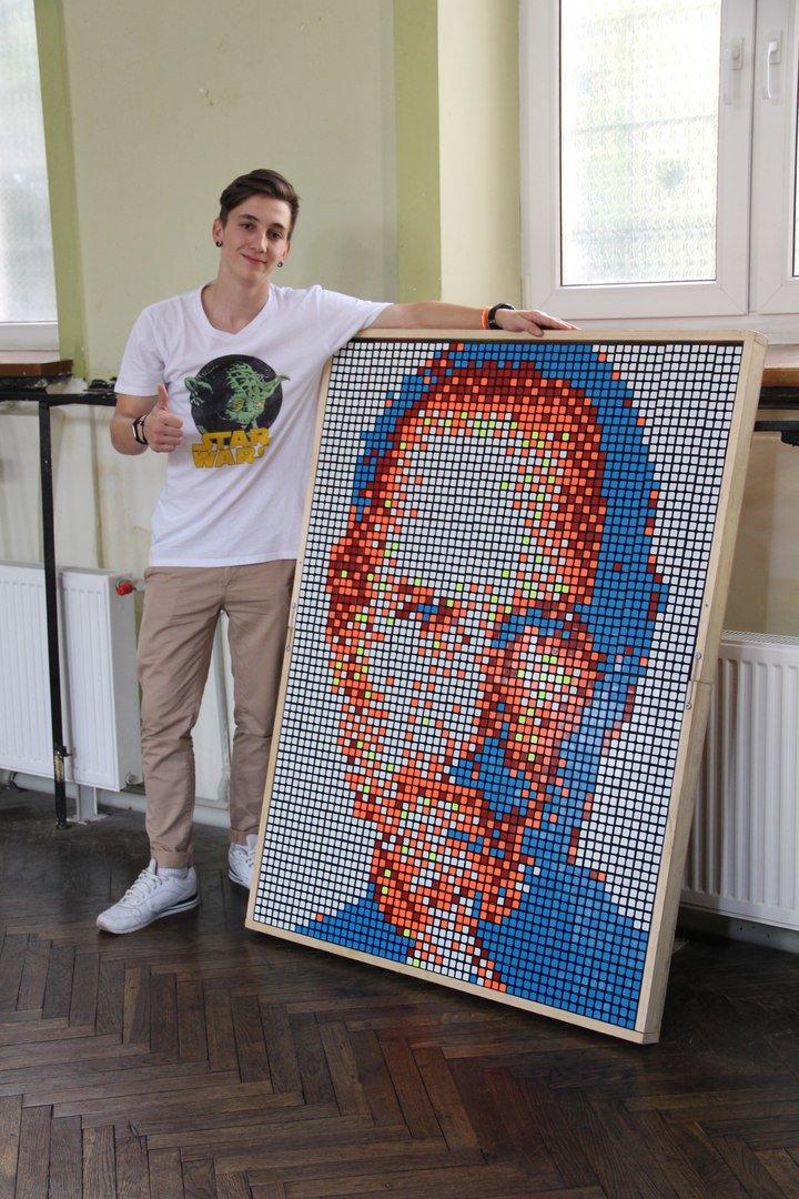 У Львові студент створив портрет Стіва Джобса із кубиків Рубика (ФОТО+ВІДЕО), фото-3