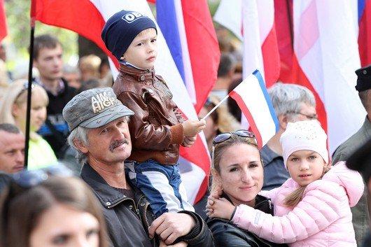 В Симферополе прошел митинг ко Дню герба и флага Крыма (ФОТО), фото-7