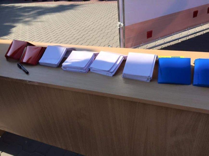 В центре Симферополя собрали флаг Крыма из пожеланий (ФОТО), фото-1