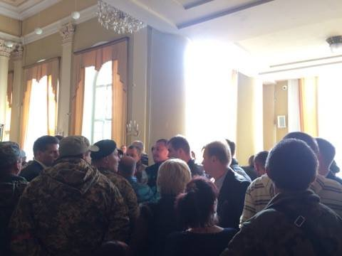 На сесію міської ради прийшли учасники АТО (ФОТО), фото-5