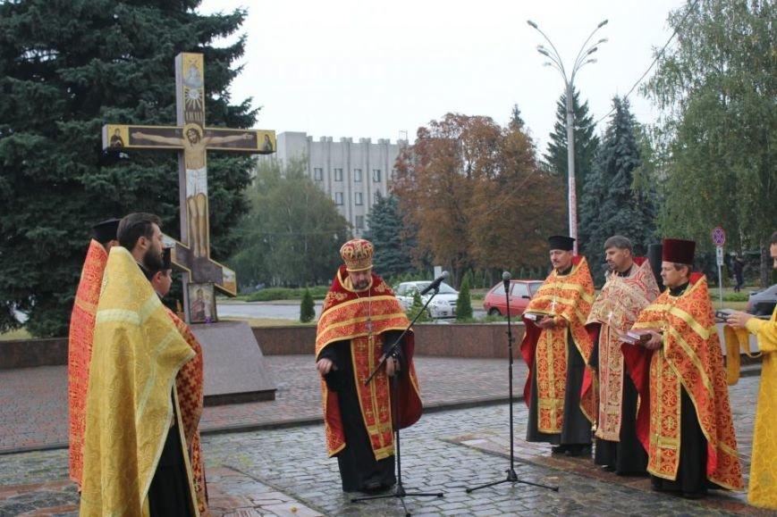 Кременчужане помолились на площади Победы за погибших защитников города и страны (ФОТО), фото-2