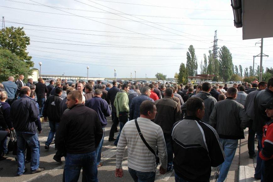 На Бурштинській ТЕС протестують проти низьких зарплат. Фото. Відео, фото-1