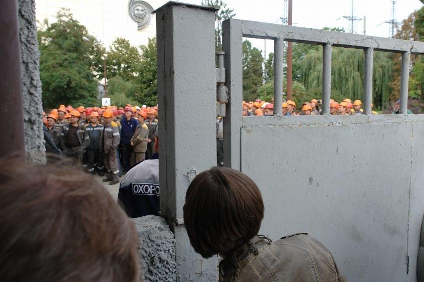 На Бурштинській ТЕС протестують проти низьких зарплат. Фото. Відео, фото-5