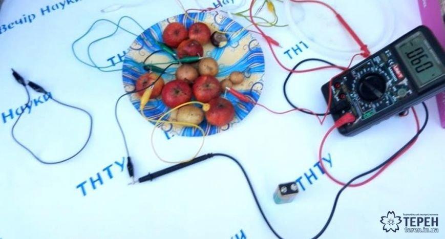 У Тернополі студенти заряджали гаджети від овочів (фото), фото-1