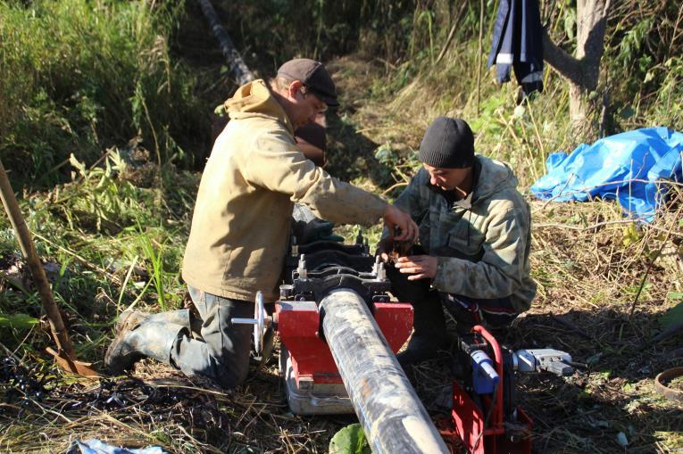 На Сахалине приступили к раскопкам столетнего водопровода, фото-1