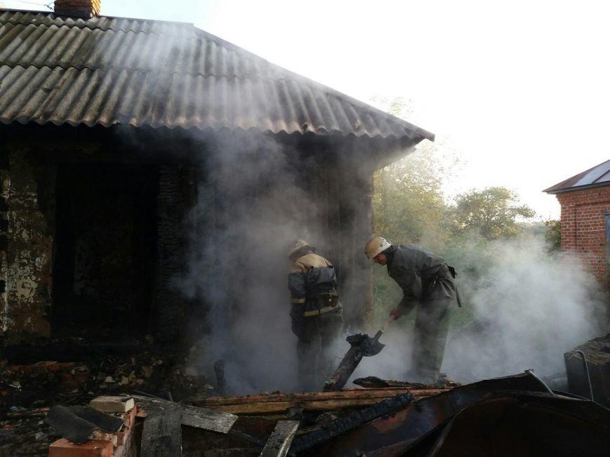Во время ликвидации пожара в жилом доме на Сумщине обнаружены тела 2 человек, фото-1