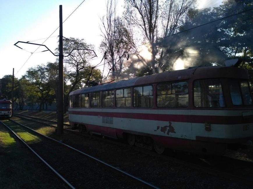 В Запорожье загорелся трамвай, - ФОТО, фото-3