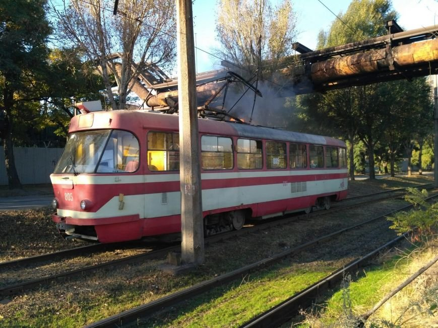 В Запорожье загорелся трамвай, - ФОТО, фото-2