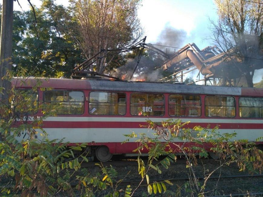 В Запорожье загорелся трамвай, - ФОТО, фото-4