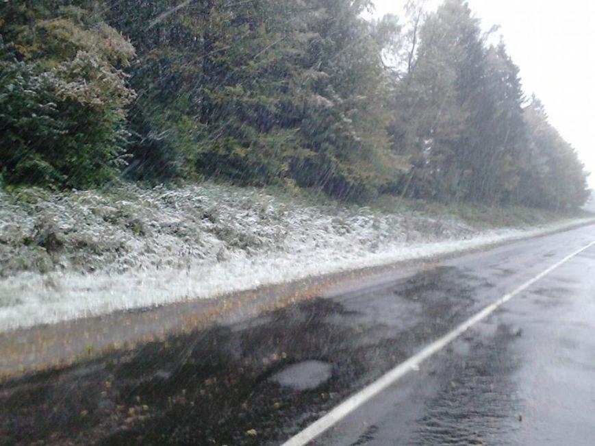 Сьогодні на Львівщині випав перший сніг (ФОТО), фото-3