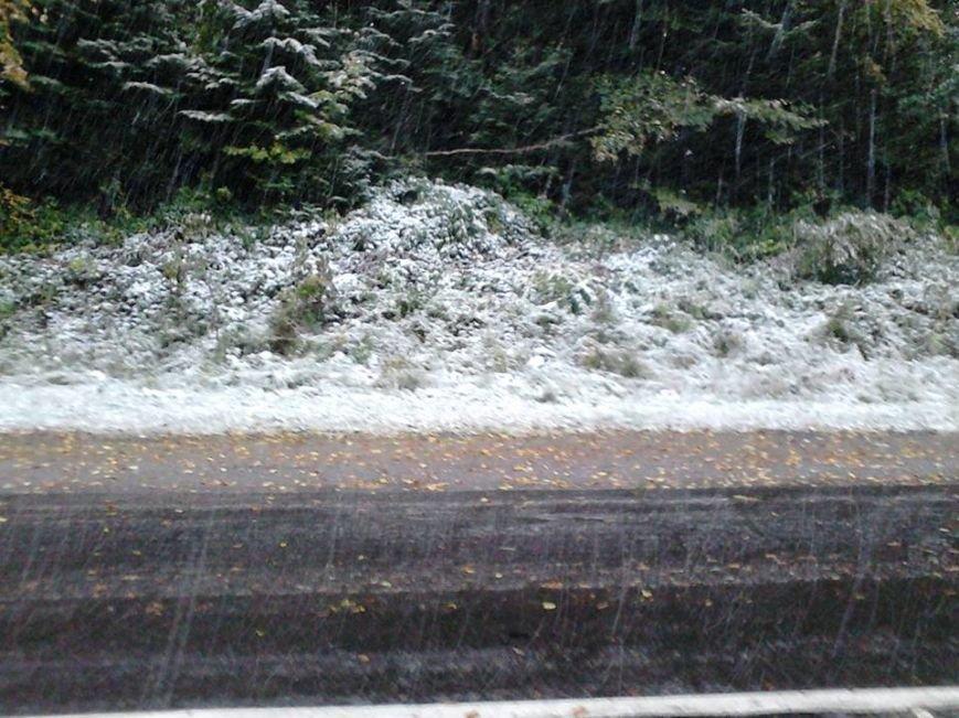 Сьогодні на Львівщині випав перший сніг (ФОТО), фото-5