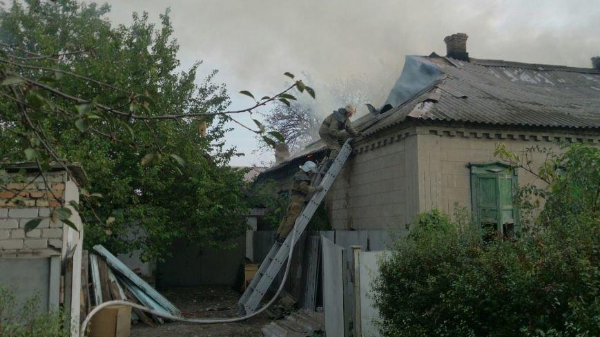 Каменские спасатели тушили пожар в доме на Сурской, фото-1