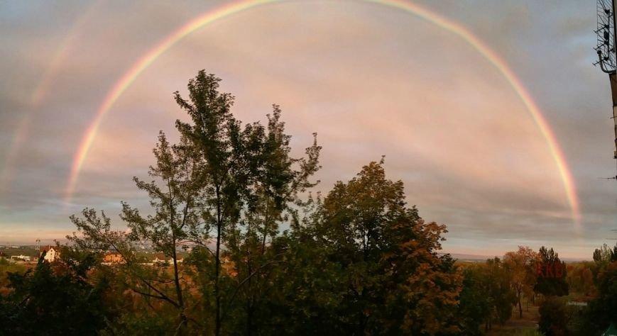 В соцсетях массово публикуют фото радуги над Запорожьем, фото-2
