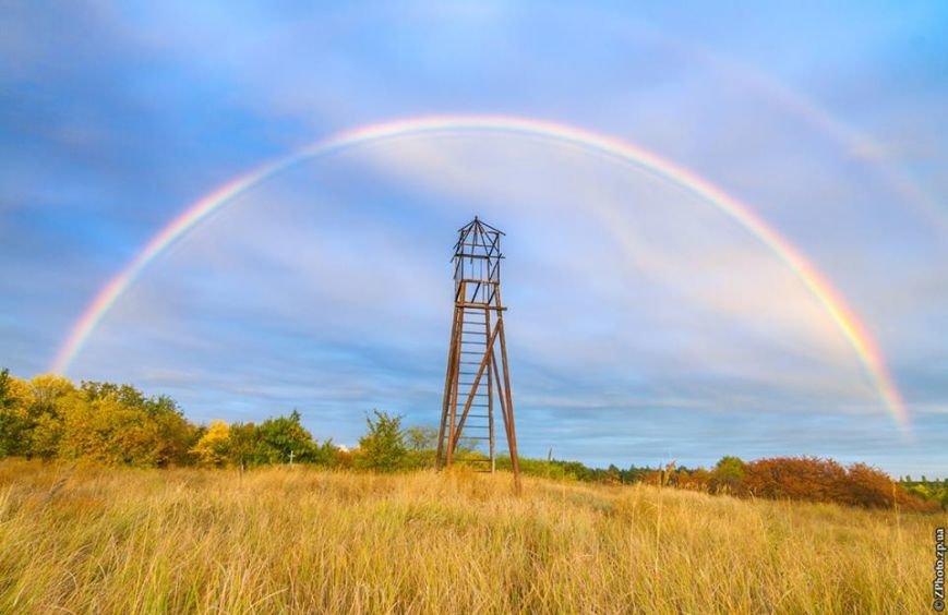 В соцсетях массово публикуют фото радуги над Запорожьем, фото-1