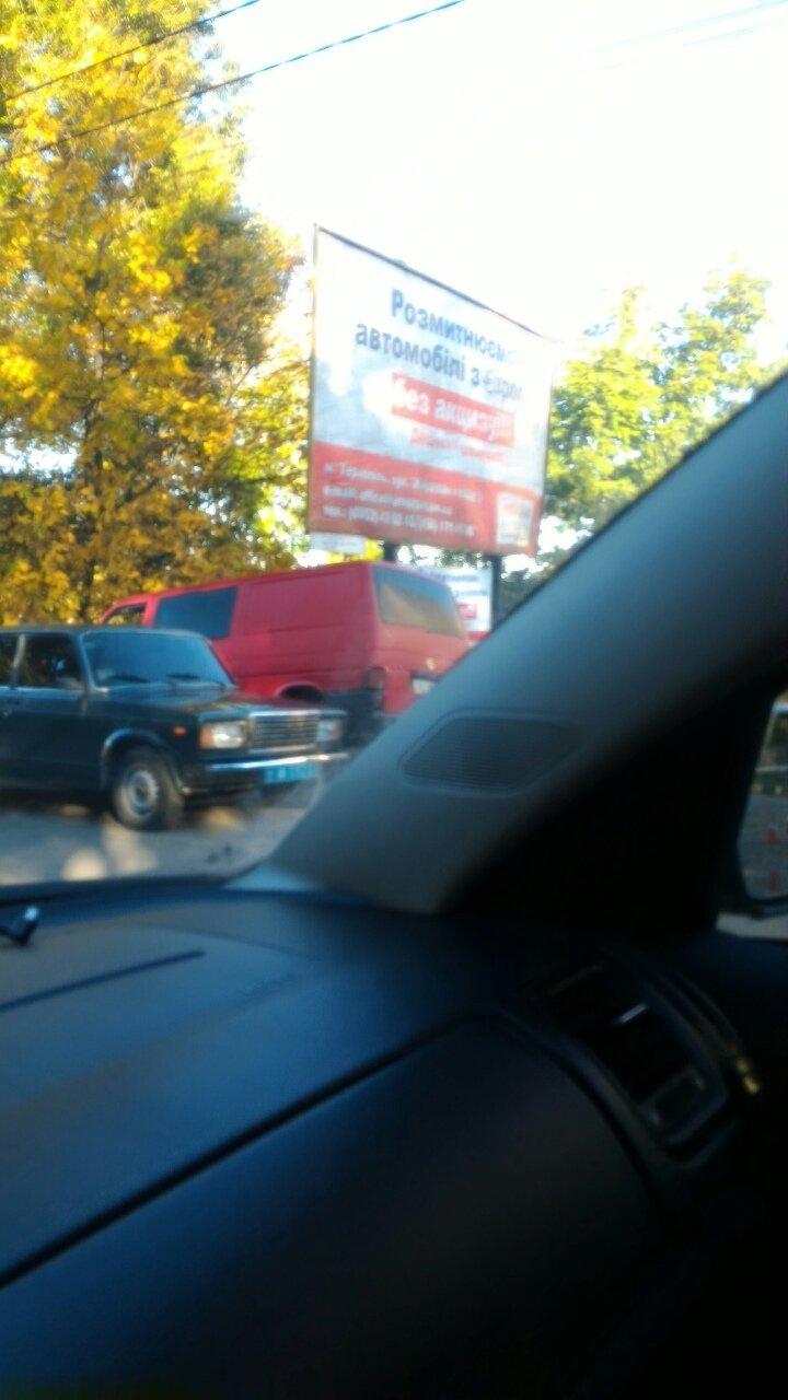 У Тернополі зіткнулися два мікроавтобуси (Фото), фото-1