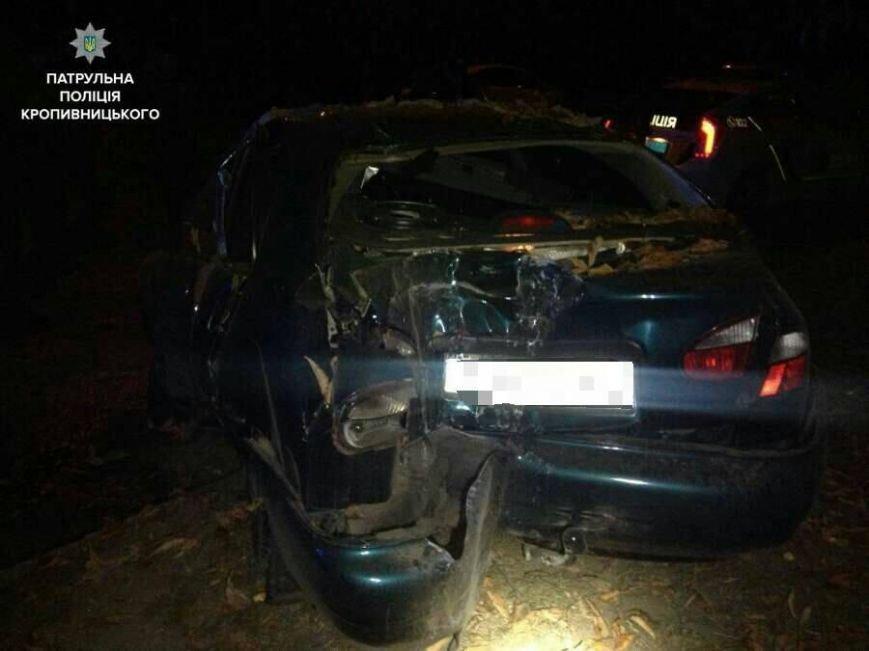Убегая от патрульных водитель разбил автомобиль об дерево (ФОТО), фото-1