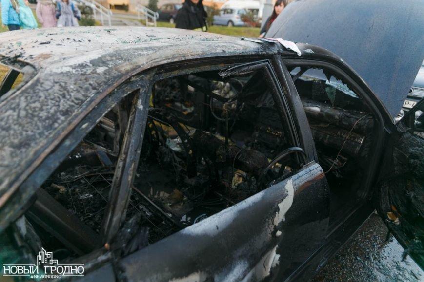 В Гродно во время движения загорелась Ауди A6, фото-6