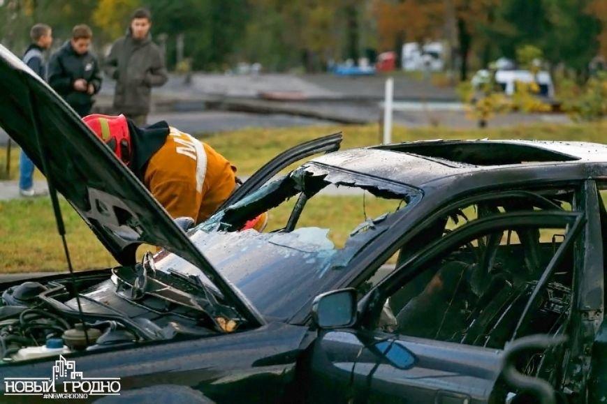 В Гродно во время движения загорелась Ауди A6, фото-4