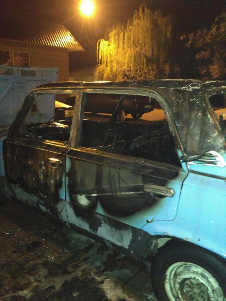 В Запорожье обстреляли и сожгли автомобиль, - ФОТО, фото-1