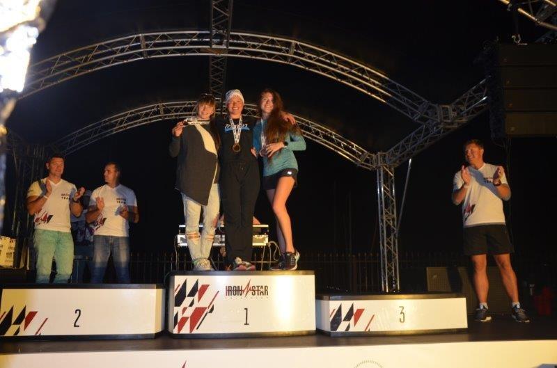 Нагрождение девушек 18-29 лет IRONSTAR OLYMPIC TRIATHLON. Слева направо-Марина Баданина, Анастасия Костромкина, Оксана Станевич