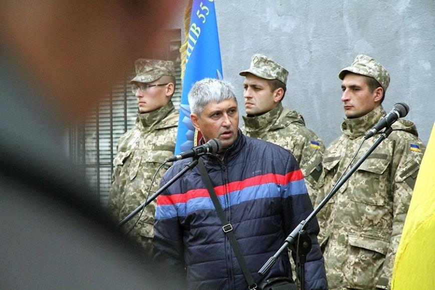 В Запорожье открыли мемориальный знак погибшему в АТО артиллеристу, - ФОТО, фото-3