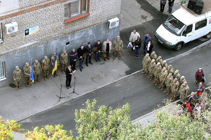 В Запорожье открыли мемориальный знак погибшему в АТО артиллеристу, - ФОТО, фото-1
