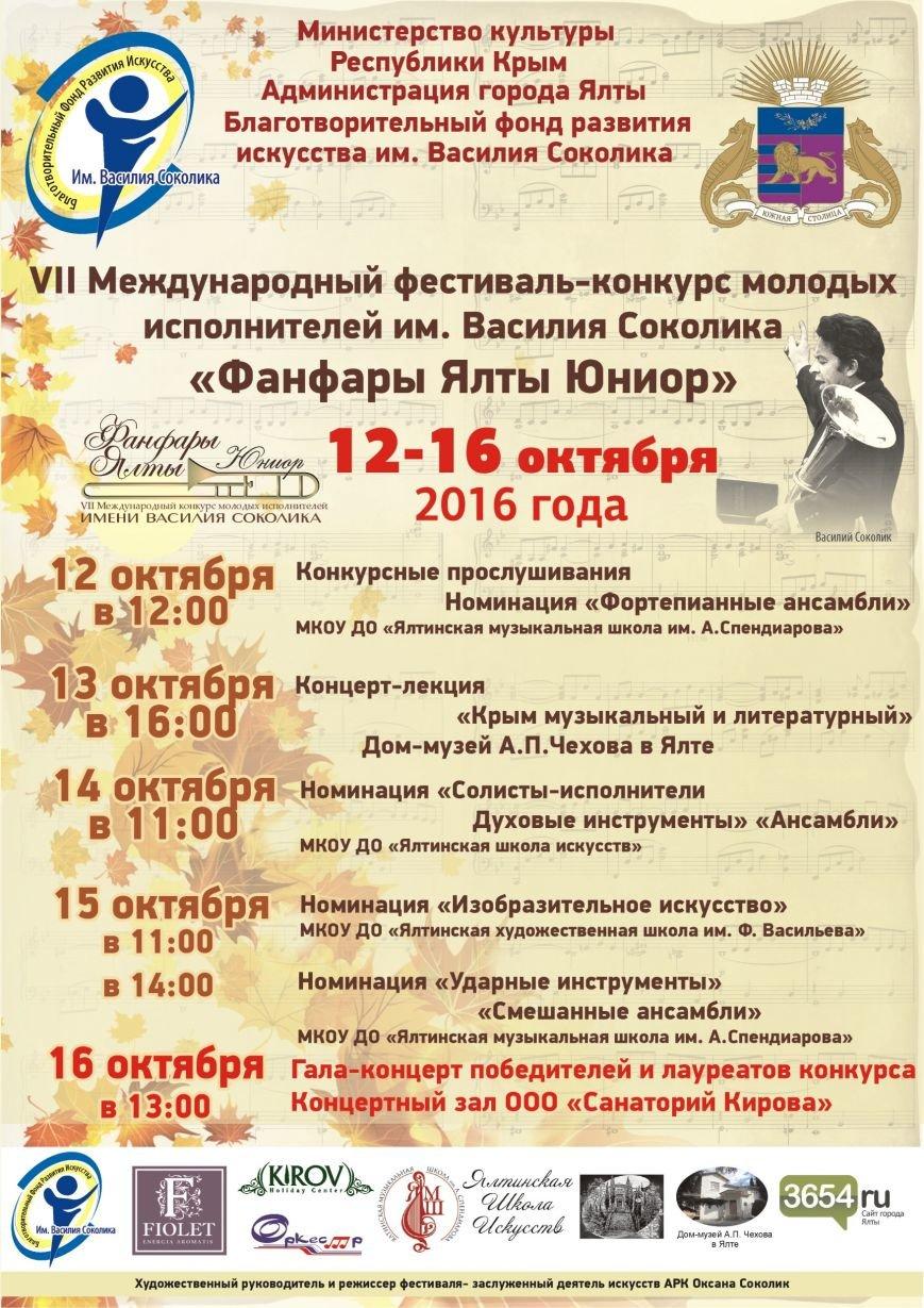 Афиша 2016 Фанфары Ялты Юниор