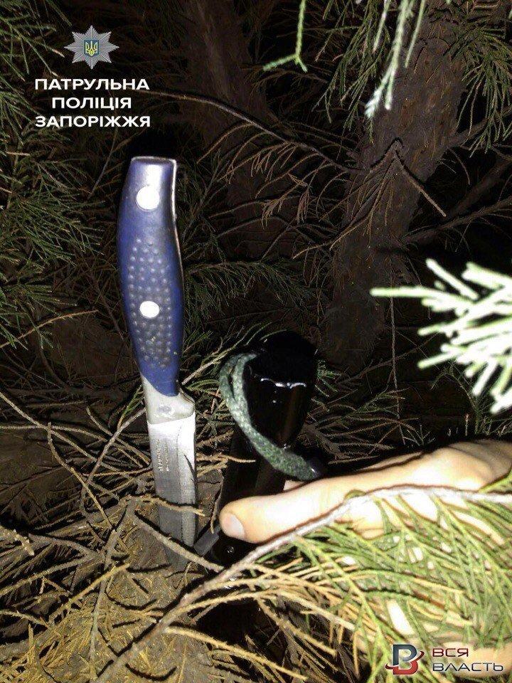 В Запорожье мужчина с кухонными ножами бросался на прохожих, - ФОТО, фото-1