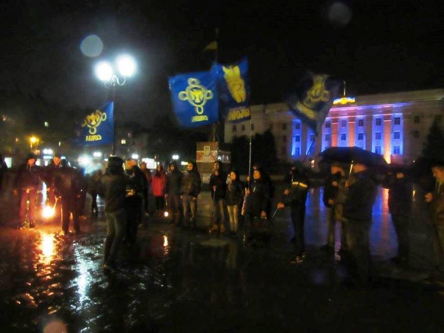 Сегодня в Херсоне состоялся митинг-реквием в память погибшего в зоне АТО офицера ВСУ Мирослава Мислы, фото-1