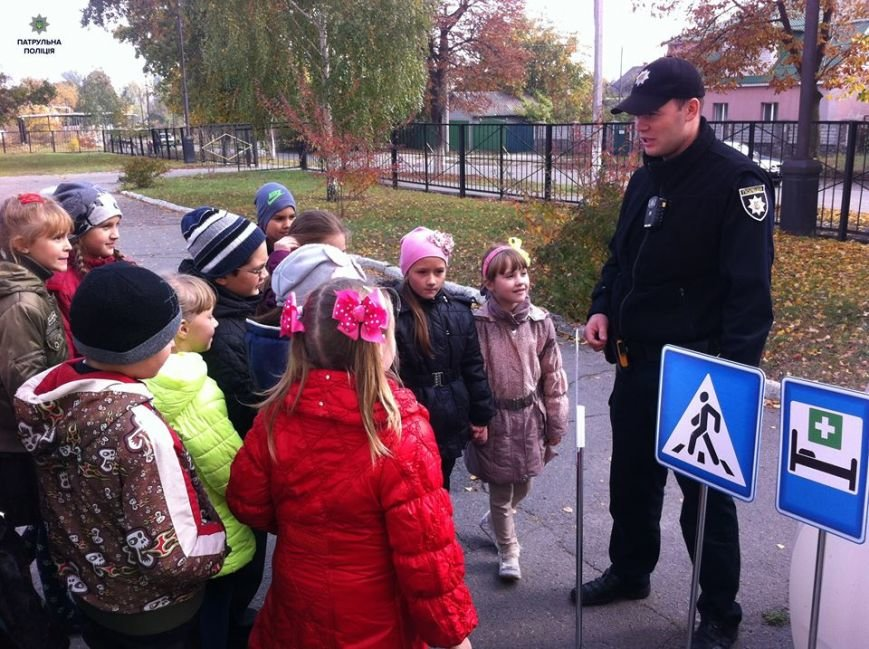 Кременчугские школьники учат ПДД в Автогородке в Парке Мира, фото-2
