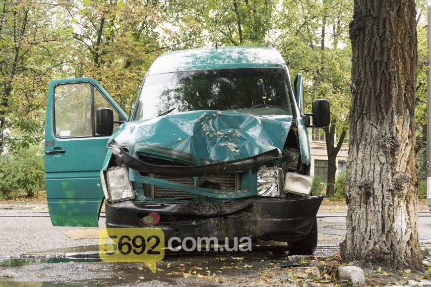 В Каменском в ДТП на улице Спортивной микроавтобус Volkswagen врезался в дерево, фото-2