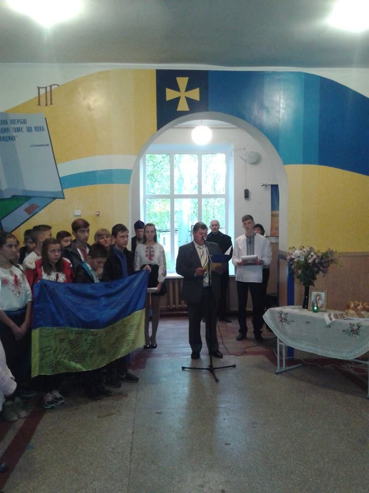 Под Кремечнчугом, в Песчаном открыли три памятных доски, посвященных погибшим в АТО военным, фото-10