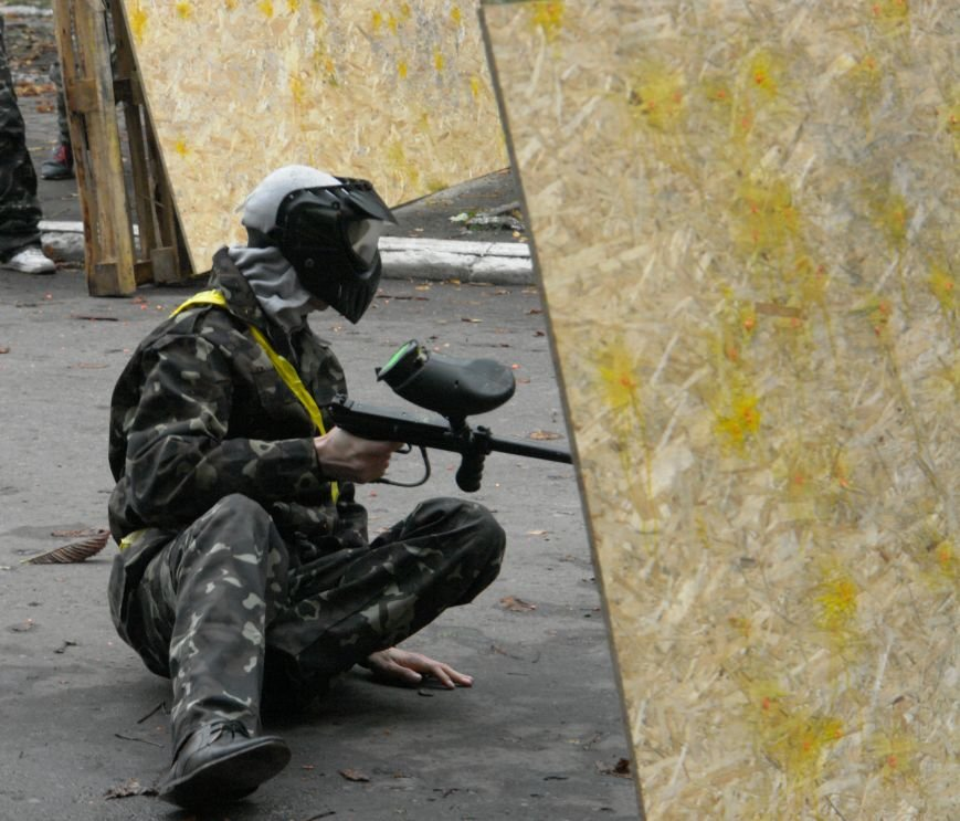 В Покровске (Красноармейске) стреляли... краской, фото-6