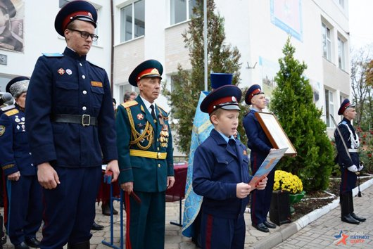 В праздник Покрова в Симферополе открыли первый казачий класс и приняли в казаки 57 мальчиков и девочек (ФОТО), фото-6