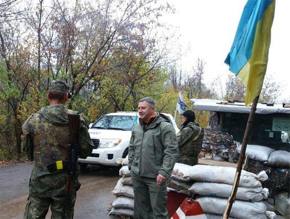 Руководитель полиции Кировоградщины Сергей Кондрашенко посетил бойцов батальона «Кировоград», что сейчас несут службу в зоне АТО, фото-3