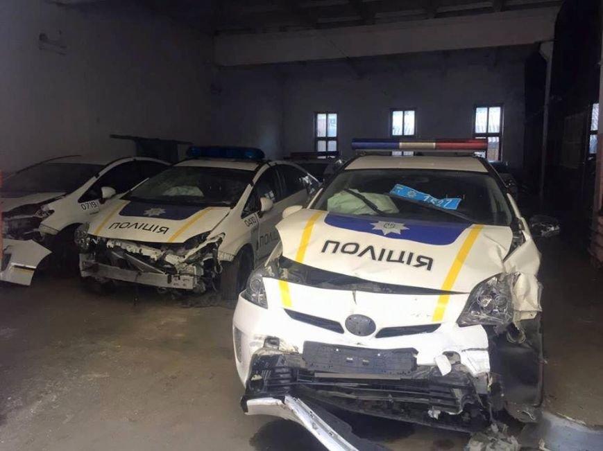 """Тернополянам продемонстрували """"кладовище"""" службових авт, понищених поліцейськими (Фото), фото-1"""