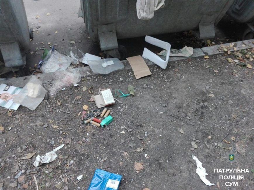 Сумчанин на мусорке нашел коробок с 50 патронами (ФОТО), фото-1