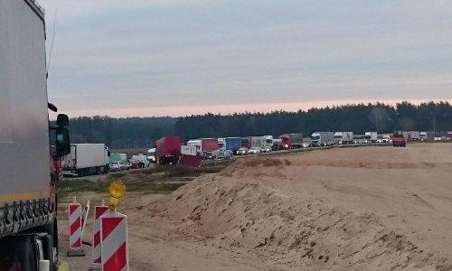 Пьяный белорус на 3 часа парализовал автомобильное движение между Белостоком и Варшавой, фото-1