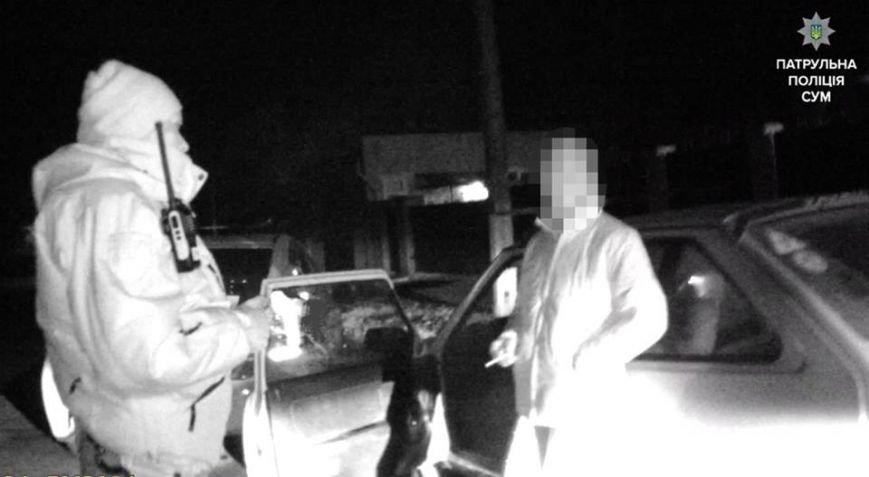 Пьяная сумчанка за рулем ехала ночью с выключенными фарами (ФОТО), фото-1