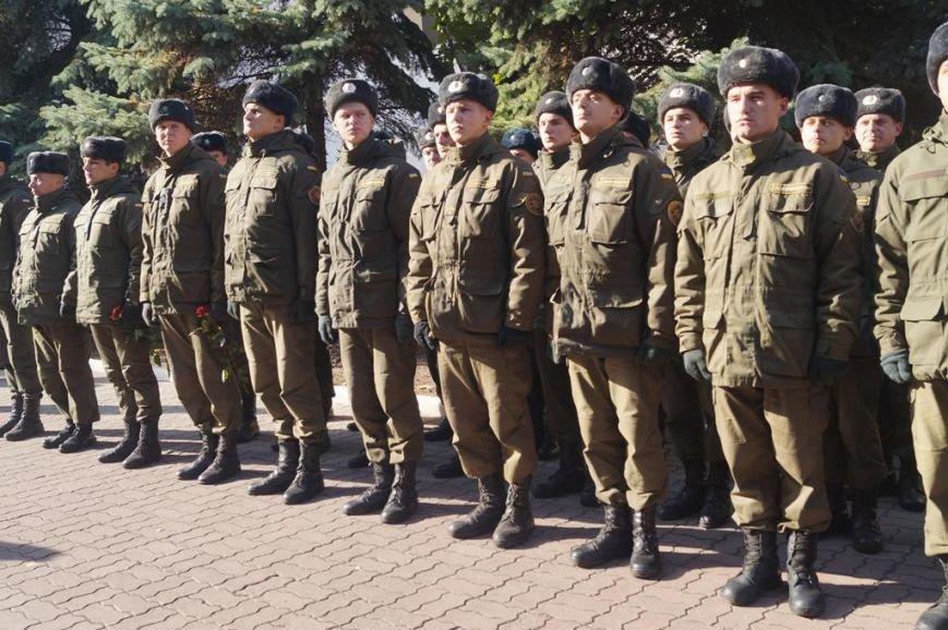 В Запорожье открыли памятный знак погибшим нацгвардейцам, - ФОТО, фото-6