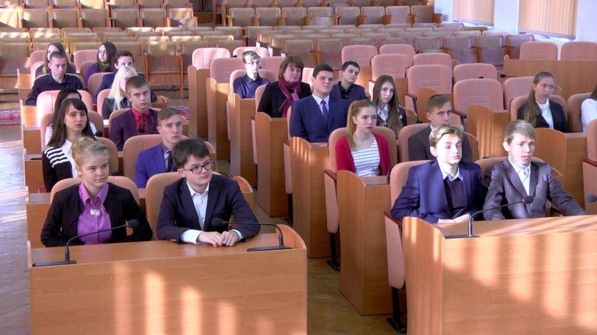 Для школьников Каменского провели экскурсию по городскому совету, фото-7
