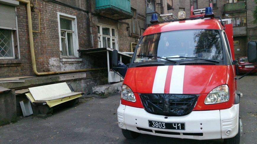 В центре Каменского тушили пожар в подвале жилого дома, фото-3