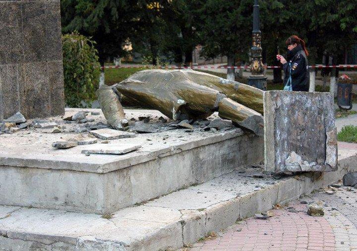 В Судаке неизвестные снесли памятник Ленину (ФОТО), фото-3