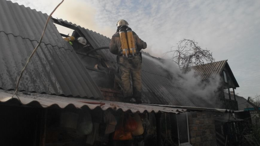 В Новгородке горела летняя кухня (ФОТО), фото-2