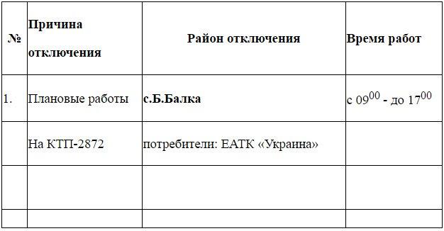 Плановое отключение электроэнергии в Черноморске 25.10.2016, фото-1
